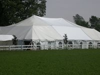 White Tent with Walls